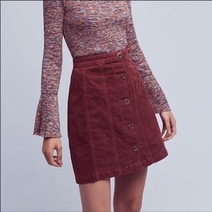 Anthro pilcro & the letterpress corduroy skirt